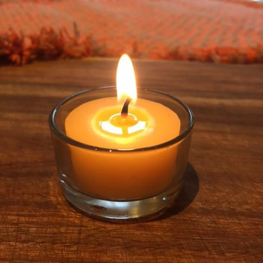 Certified Organic Beeswax Tealight Candles